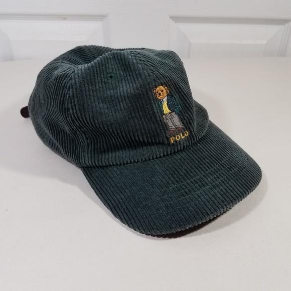 Polo Ralph Lauren Bear Corduroy Strapback Hat Vtg.  M 5adc3a783800c557d52b49ff 1681443c891